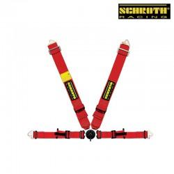 SCHROTH ProfI II AMS(With Flexi Belt) with Flexi Belt Lap belt red 4點式安全帶