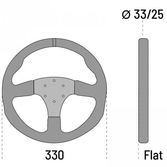 SPARCO R330 LEATHER STEERING WHEEL 皮革方向盤