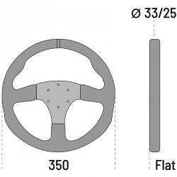 SPARCO R350 LEATHER STEERING WHEEL 皮革方向盤